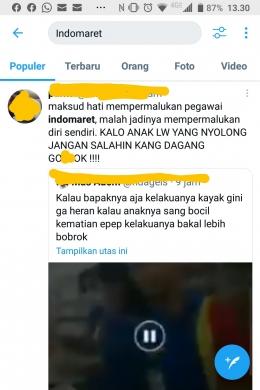 peristiwa marah-marah ; sumber gambar tangkapan layar twitter dari akun pribadi penulis