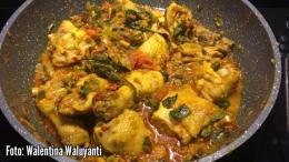 Ayam woku belanga untuk lebaran. | Dokumentasi pribadi