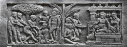 Relief Borobudur yang Menggambarkan Alat Musik. Sumber: kebudayaan.kemdikbud.go.id