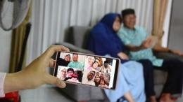 ilustrasi silaturahmi virtual (bbc.com/diunduh)