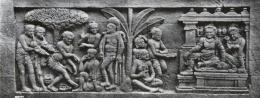 Relief cerita Karmawibhangga Candi Borobudur (Sumber : https://kebudayaan.kemdikbud.go.id/)
