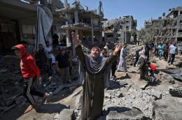 Kondisi Gaza pasca diserang Israel. Sumber : twitter.com/Timesofgaza