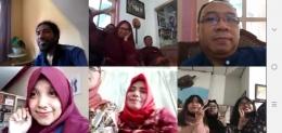Silaturahmi online (Sumber: tangkapan videocall/dokpri).