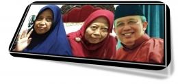 Silaturahmi virtual keluarga Suami Jakarta-Jember. Dok.pri