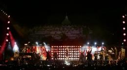 Konser Mariah Carey di Borobudur tahun 2018. (sumber : creativedisc.com)