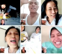 Silaturahmi virtual ke beberapa keluarga (beberapa kota) di Indonesia (Sumber: dokumen pribadi)