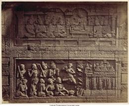 salah satu relief Candi Borobudur| Prentenkabinet Leiden