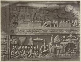relief musik di Candi Borobudur| Museum Volkenkunde Belanda