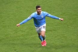 Selebrasi gol Ferran vs Newcastle (Source : manchester eveningnews)