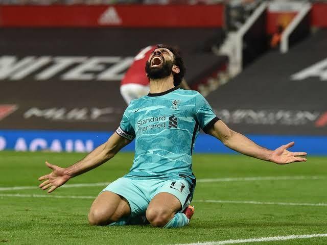 Selebrasi gol Mohamed Salah ke gawang Manchester United (Liverpoolecho.co.uk)