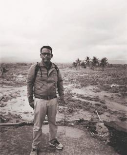 Kenangan almarhum saat di lokasi liquiifaksi Jono Oge Sulteng pasca gempa dasyat 2018. Doc Birgaldo Sinaga