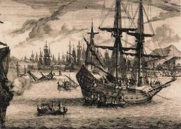 Ilustrasi Portugis menyerang Melaka |http://www.sabrizain.org/malaya/port.htm