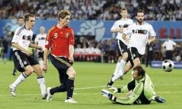 Gol Torres vs Jerman 2008 (Source : World Soccer)