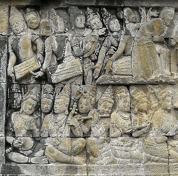 Alat Musik Dalam Ukiran Relief Candi Borobudur (Sumber : takaitu.id)