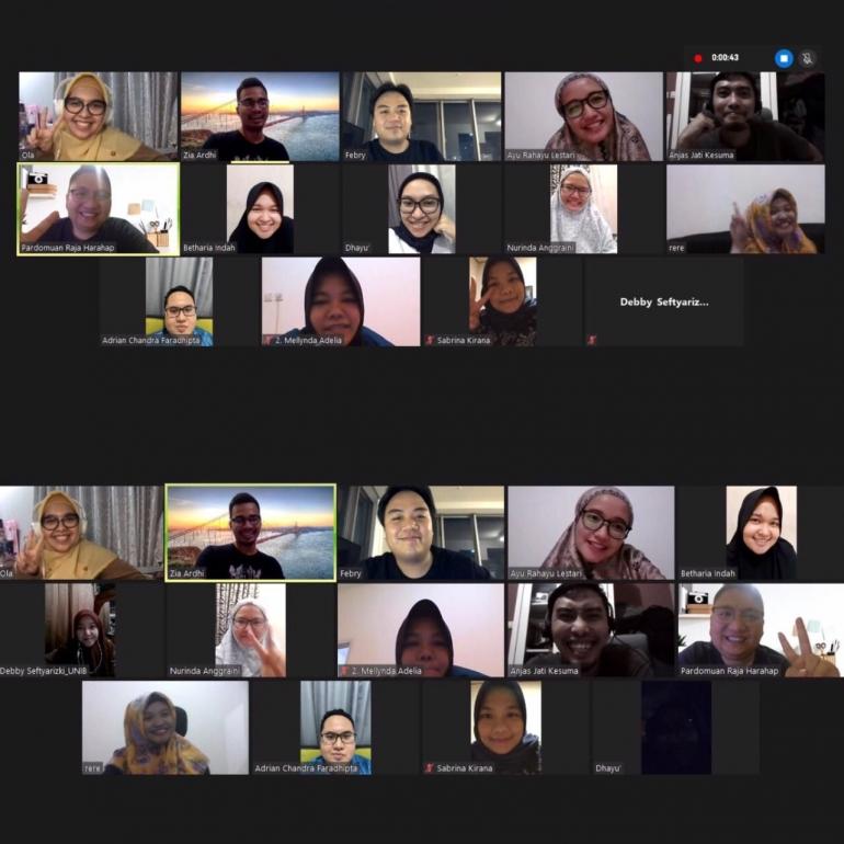 Halalbihala Virtual Bersama Teman-teman SMA. Sumber: dokumentasi pribadi