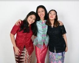 Dari kiri ke kanan: Giselza Satya Kusmaharani, Veronica Lila Novesaria, dan Alea Najla Syukur (Foto koleksi tim Get This Look!)