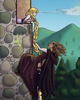 Gadis Berambut Emas (sumber gambar: faerywitch on DeviantArt via https://www.pinterest.com)