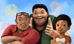 Di prekuelnya ini penonton dapat gambaran pertemuan pertama Adit dengan Sopo dan Bang Jarwo (sumber: Dailysia/Disney Hotstar)