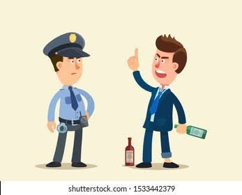 Memaki polisi - ilustrasi
