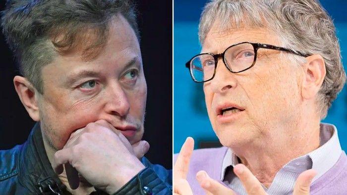 (Elon Musk dan Bill Gates); foto- inet.detik.com