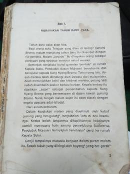 Halaman 3 novel Tara Anak Tengger | Dokumentasi pribadi