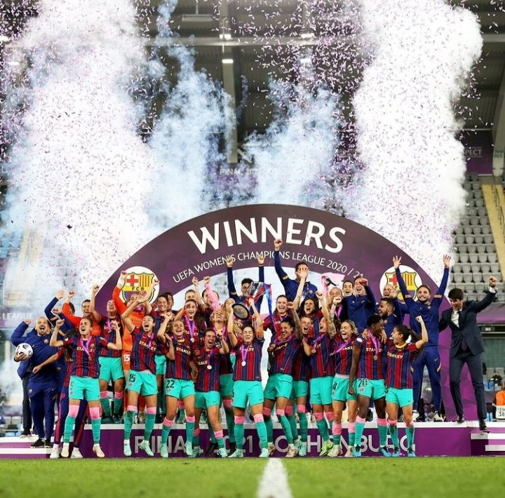 Tim Barcelona Femeni kampiun Liga Champions Eropa Wanita(dok: instagram wchampionleague)