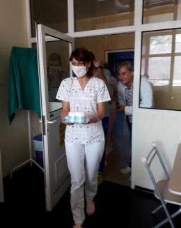 Tim medis merayakan ultah ke 1 tahun Andrej Miric di RS San Matteo PAVIA (Foto dok. Pribadi)