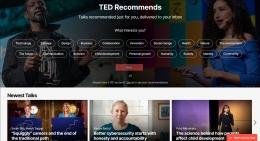 halaman depan TED (tangkapan layar pribadi   ted.com/talks)