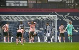 Duel Sheffield United melawan West Bromwich Albion. (via Getty Images)