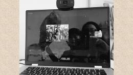 Kunjungan kasih virtual ke panti asuhan (Foto : dokpri)