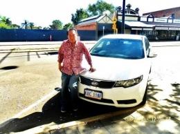 Mobil sewaan di Kalgoorlie (dok pribadi)