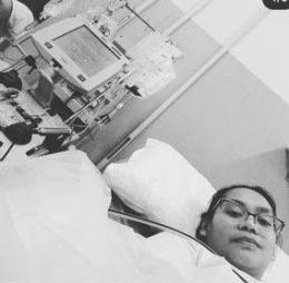 Kasrina sedang proses donor dengan mesin (Foto dok. Pribadi)