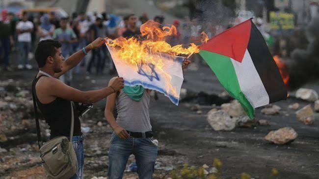 ilustrasi Konflik Israel-Palestina (CNNIndonesia)