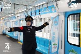Metode tunjuk-sebut juga dilakukan untuk mengecek kelengkapan dan keamanan gerbong kereta   Foto diambil dari Twitter/@mrtjakarta
