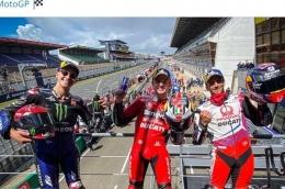 Podium MotoGP Le Mans 2021, sumber : grid.id