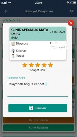 Rating setiap transaksi pelayanan kesehatan yang bisa kita sematkan I Dokpri