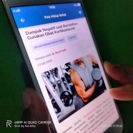 JKN Mobile menyediakan artikel seputar kesehatan nan bemanfaat I Dokpri