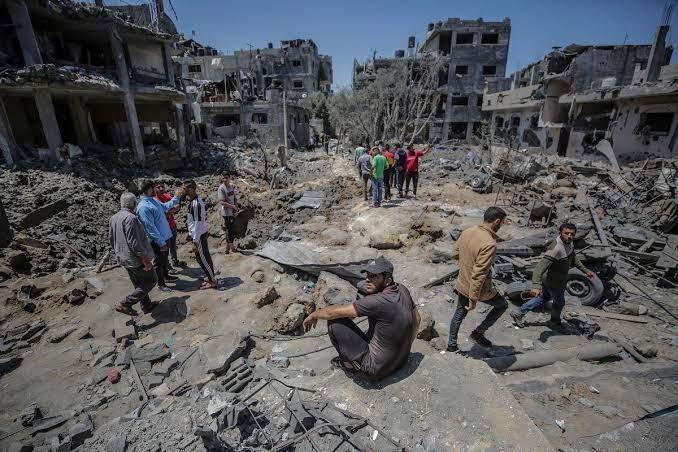 Kondisi Palestina yang luluh lantak dibombardir Israel (pic: scmp.com)