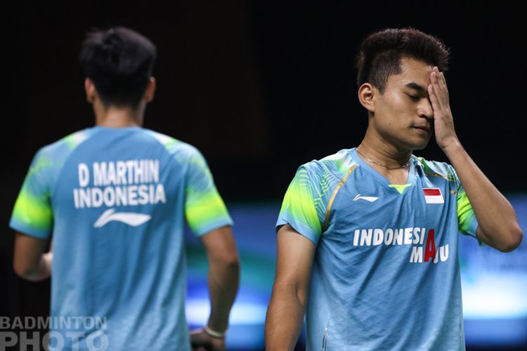 Pasangan ganda putra Indonesia, Leo Carnando/Daniel Marthin gagal melaju ke semifinal Spain Masters 2021. Tadi malam, mereka kalah di babak perempat final dari pasangan Eropa/Foto: Raphael Sachetat/Kompas.com