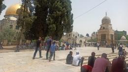 Ilustrasi Masjidil Aqsa menjelang salat Jumat, 21 Mei 2021. Dokpri