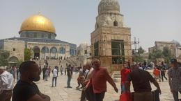 Ilustrasi menunggu salat Jumat di Masjidil Aqsa, Jumat 21 Mei 2021. Dokpri