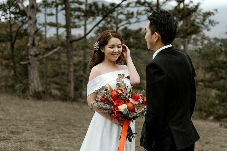 Ilustrasi pernikahan. (sumber: PEXELS/TRUNG NGUYEN via kompas.com)