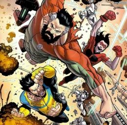 Omniman bertarung bersama Invincible | Dok. Image Comics