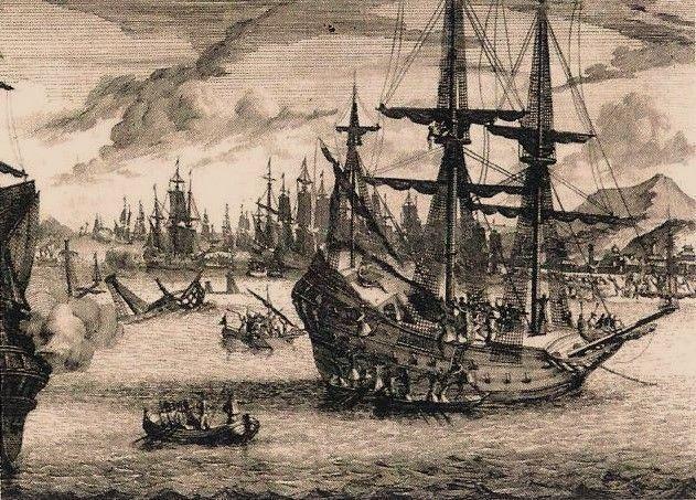Ilustrasi Portugis menyerang Melaka  http://www.sabrizain.org/malaya/port.htm