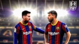 Sergio Aguero (kanan) berpotensi jadi tandem dan bisa juga jadi pengganti Lionel Messi di Barcelona (Foto: BR Football).
