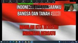 visual saat pemutaran lagu Indonesia raya -- dokpri rachma ghani