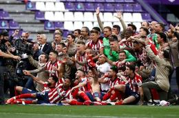 Selebrasi juara La Liga Atletico Madrid (Okezone.com)