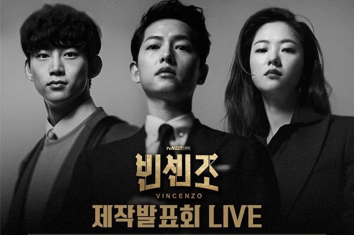 Ok Taecyeon, Song Joongki, dan Jeon Yeo Bin pemeran drama Vincenzo  Sumber: Instagram @tvndrama.official via www.parapuan.co