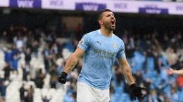 Selebrasi gol Sergio Aguero (Foto Getty Images)