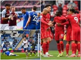 Searah jarum jam: Aston Villa vs Chelsea, Liverpool vs Crystal Palace, dan Leicester City vs Tottenham Hotspur (Independent.co.uk)
